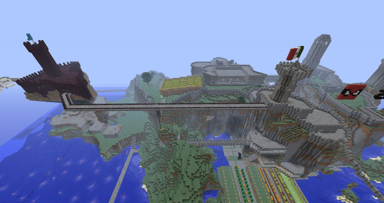 Here's a small part of the survival kingdom created by zeblade and dr8c095.