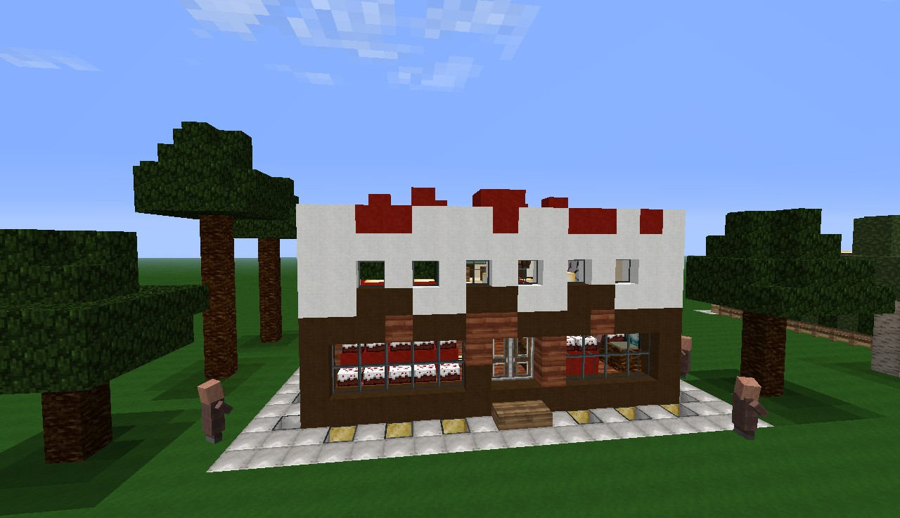 A cool bakery with restaurant minecraft project for Craft com online shopping