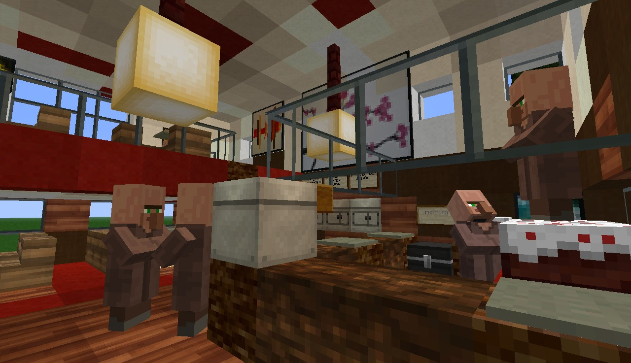 A Cool Bakery With Restaurant Minecraft Project