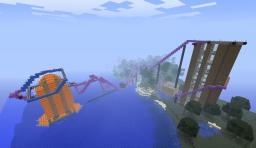 Hillside Roller Coaster On Buildings Minecraft Map & Project