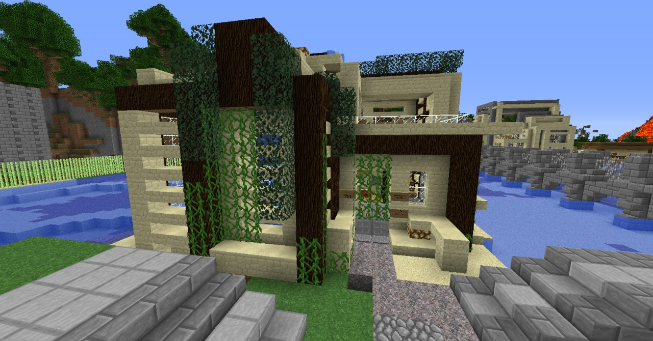 Modern beach house minecraft project for Minecraft modern house 9minecraft