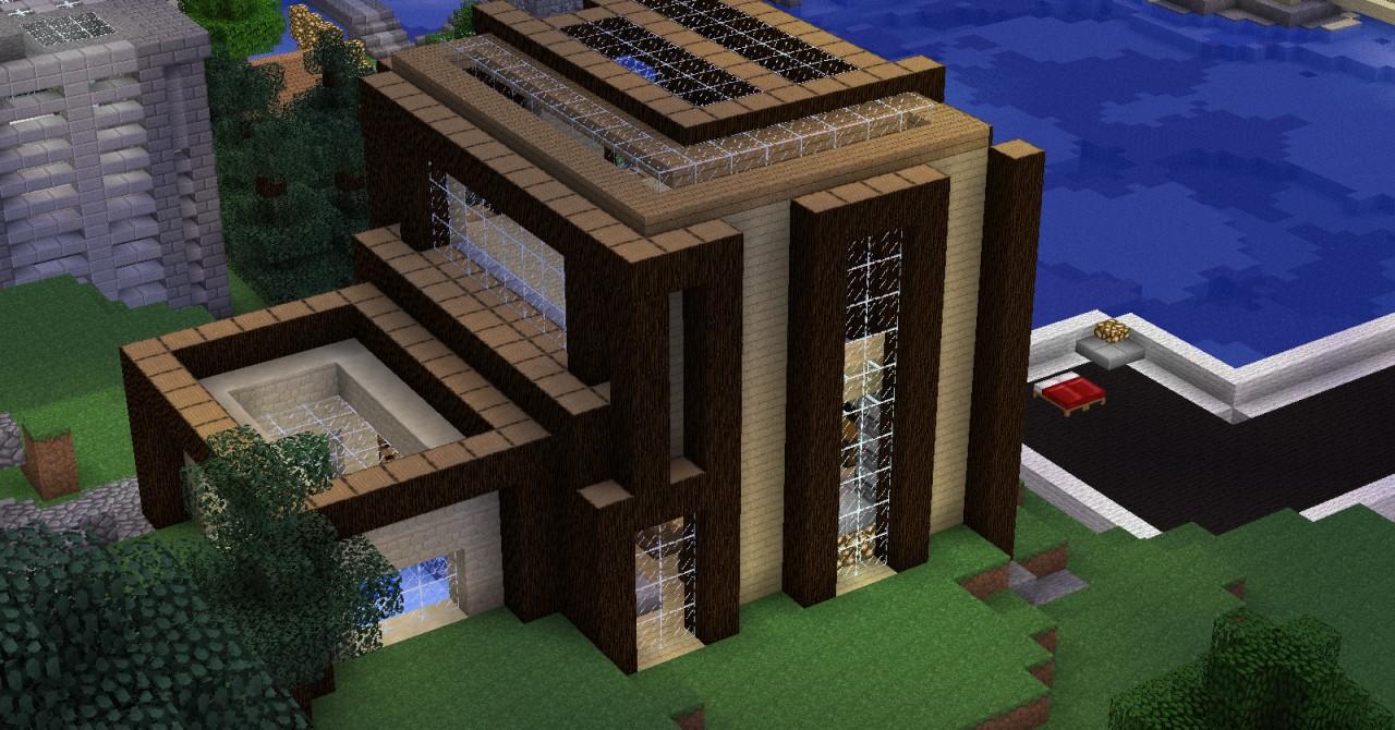 Minecraft Modern House Minecraft Wood House Minecraft House