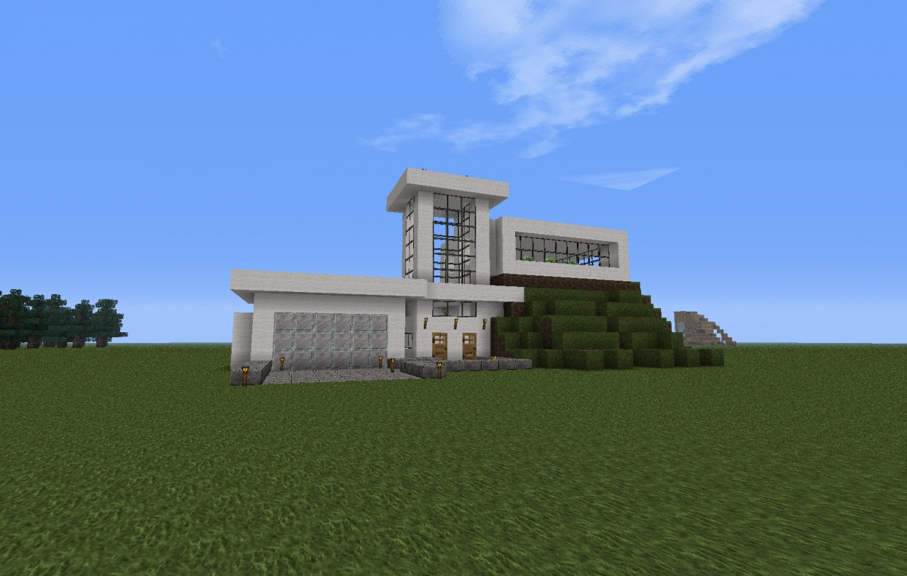 Modern house on a hill minecraft project for Modern house on hill