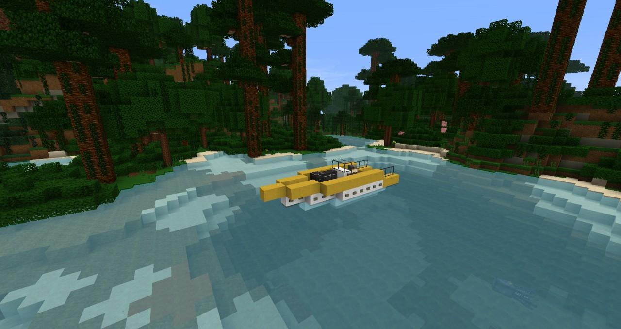 Modern Speed boat [ZEPPELIN MOD COMPATIBLE] Minecraft Project