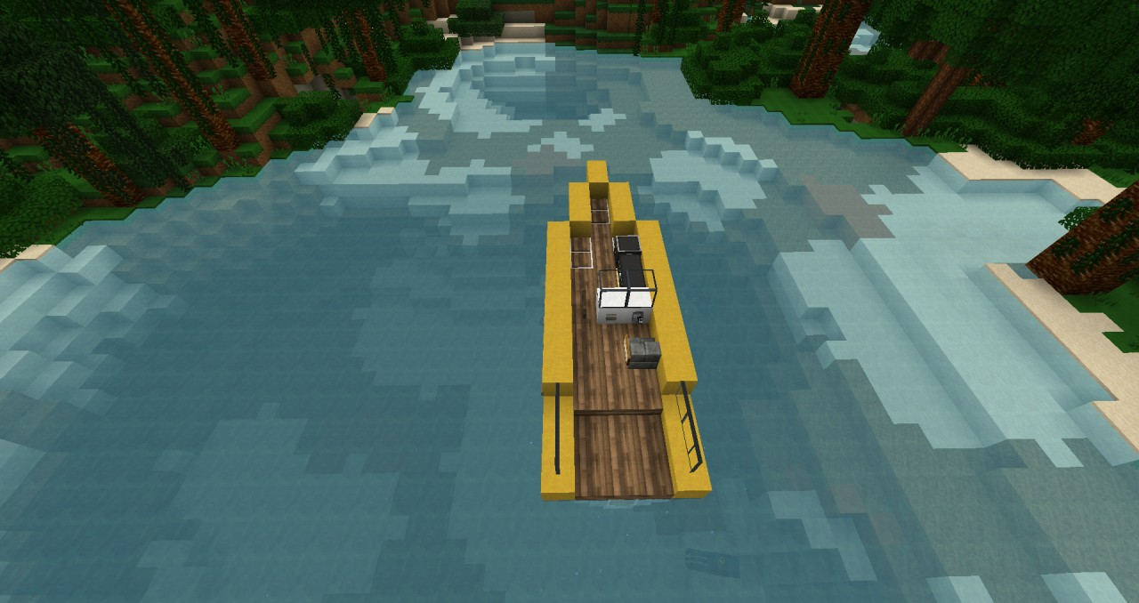 Modern Speed boat [ZEPPELIN MOD COMPATIBLE] Minecraft Project