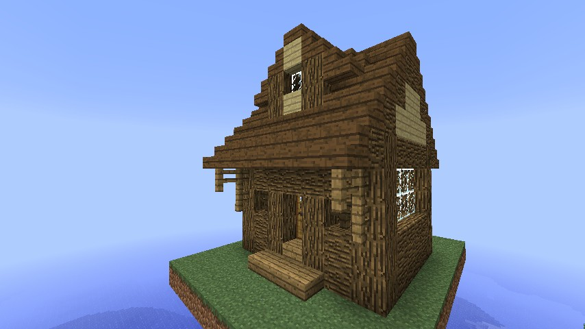 . 1 3 Log Cabin  New Log Orientation  Minecraft Project