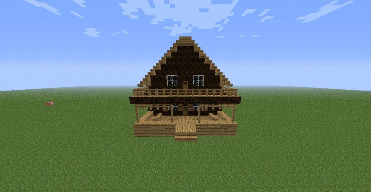Minecraft Log Cabin ~ Minecraft log house images