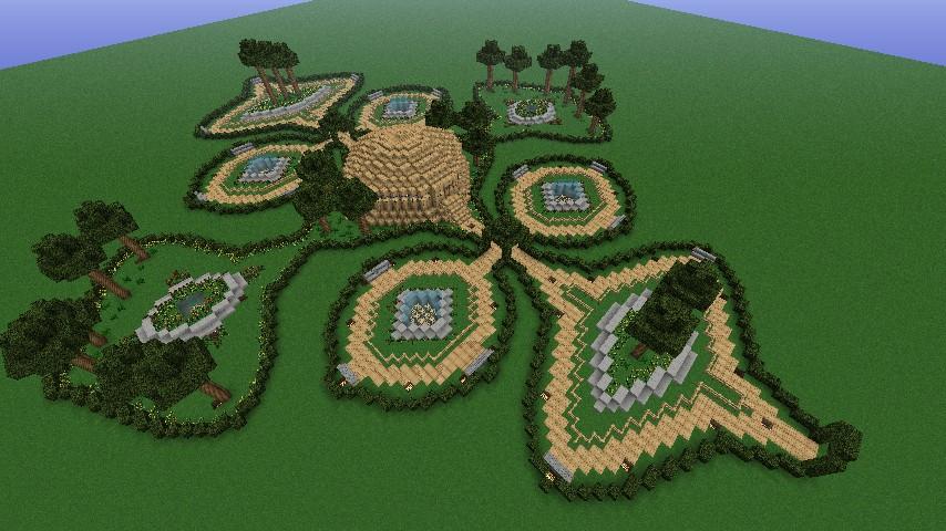 Minecraft Garden 6 Diamonds