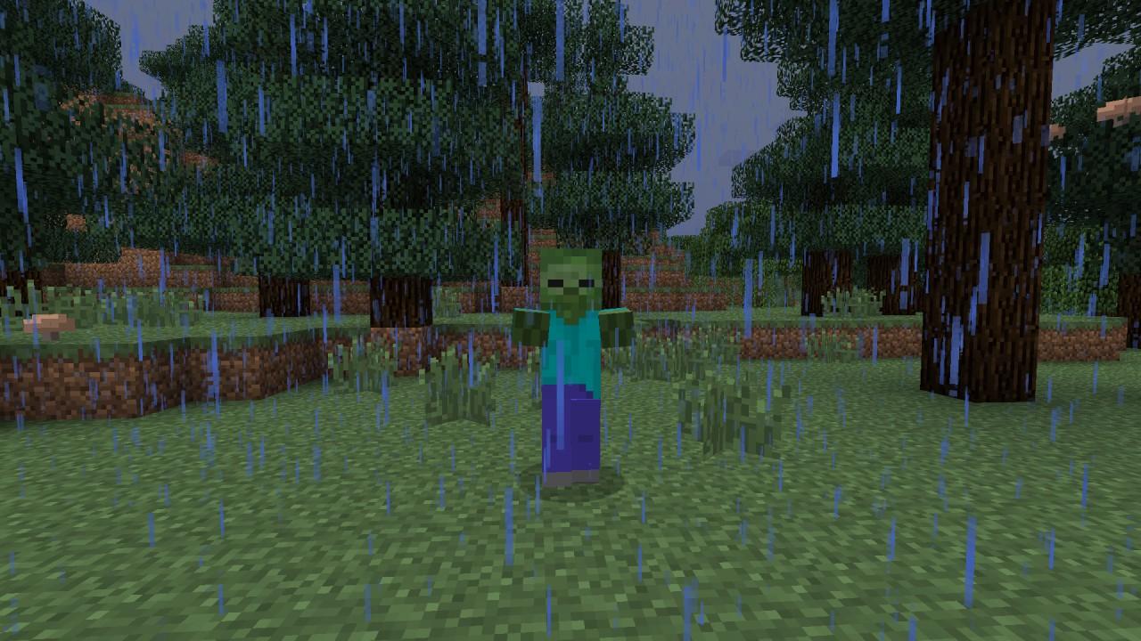 zombie in the rain!