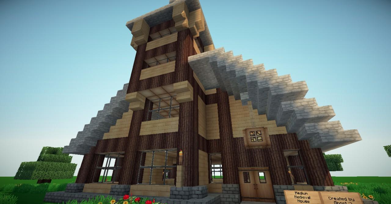 Medium Medieval House Minecraft Project