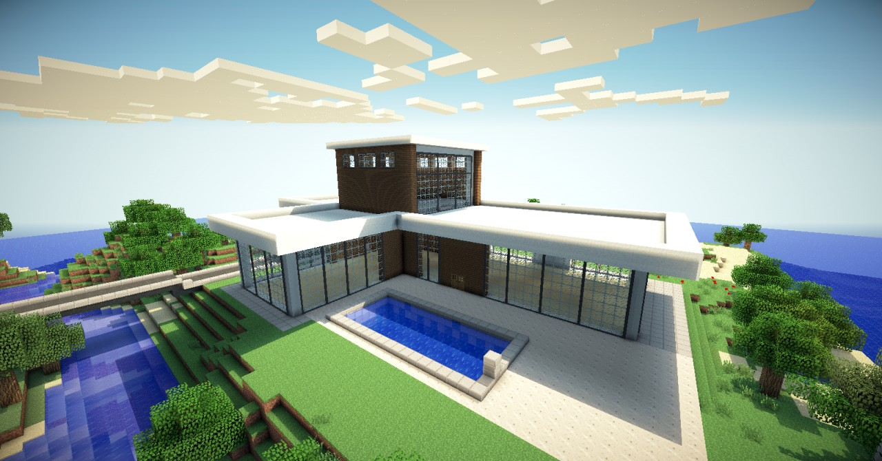 Modern mansion minecraft project for Modern house minecraft pe 0 12 1