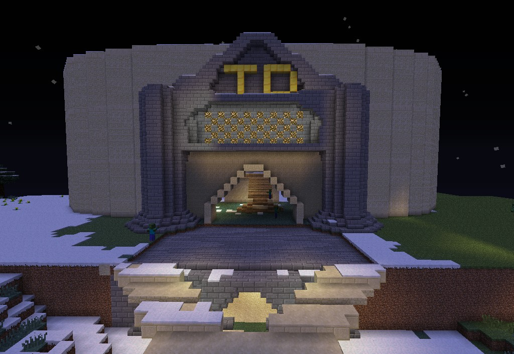 Front of the arena (unfinished)
