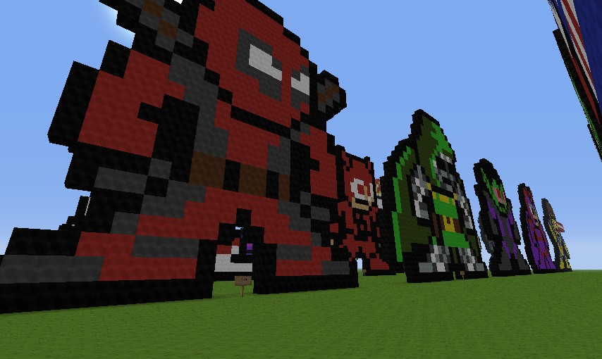 Deadpool Pixel Art Minecraft Pixel Art Marvel