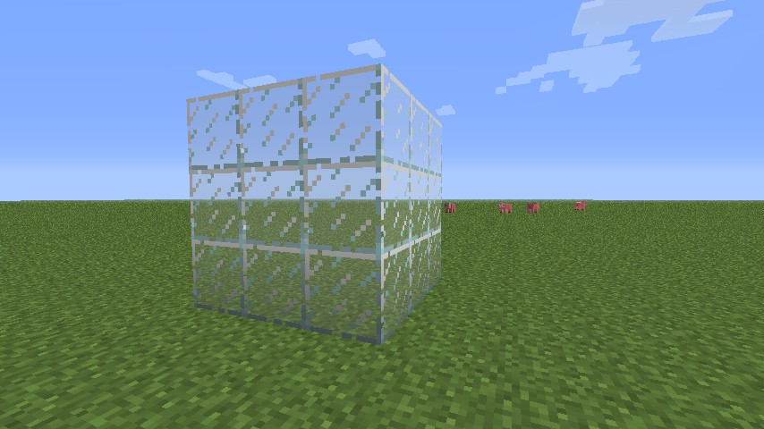 how to make transparent glasses in minecraft