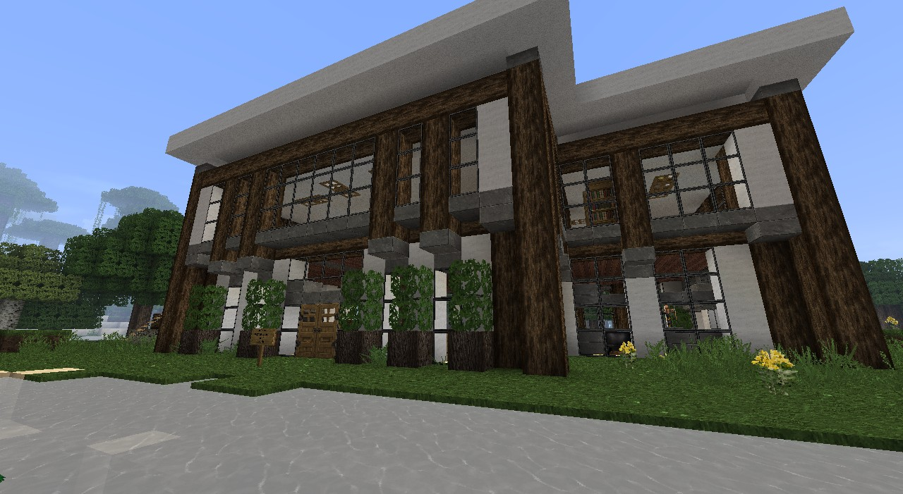 Modern Lake Front House Minecraft Project