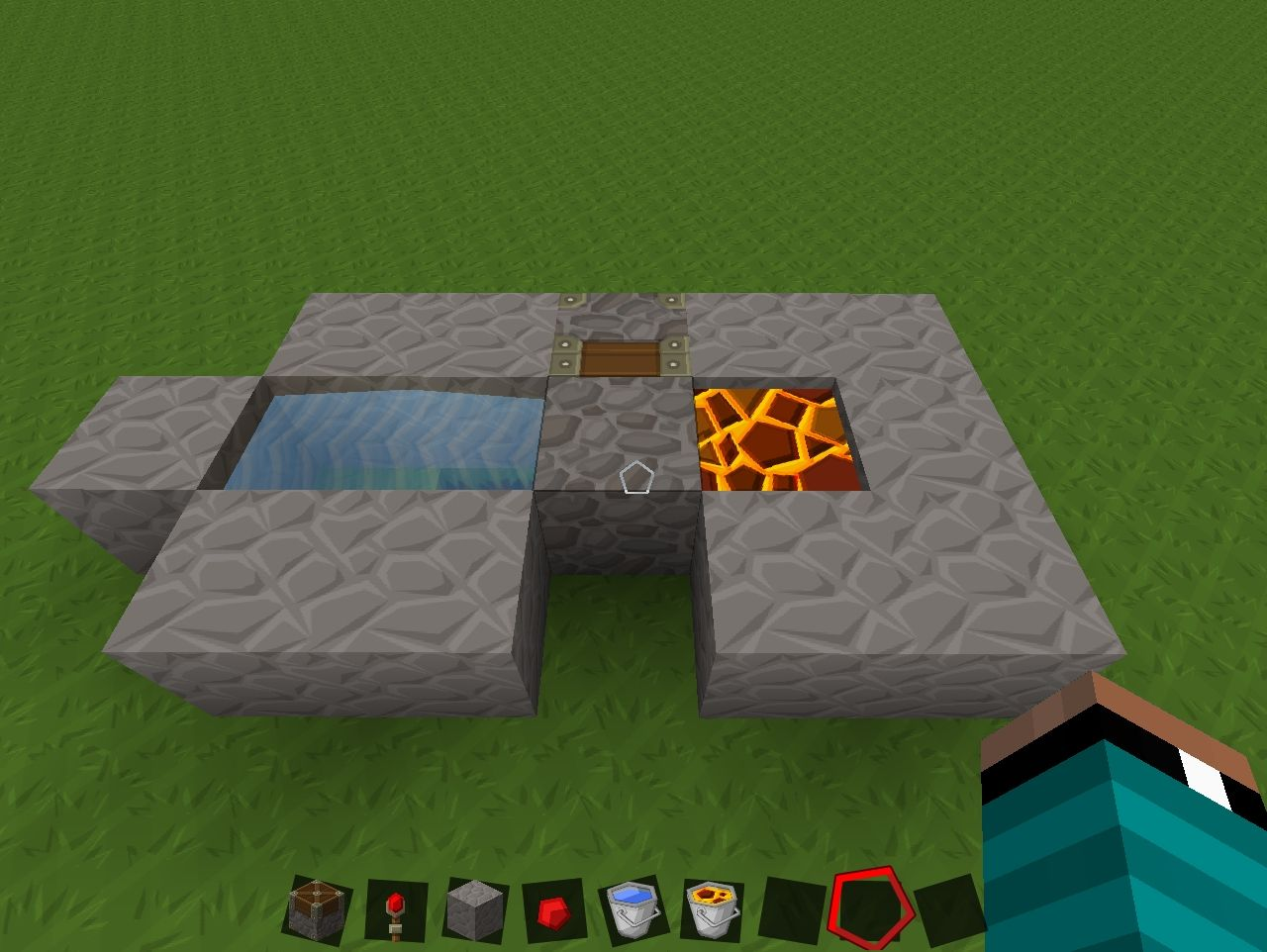 how to make obsidian generator in minecraft 1.11.2