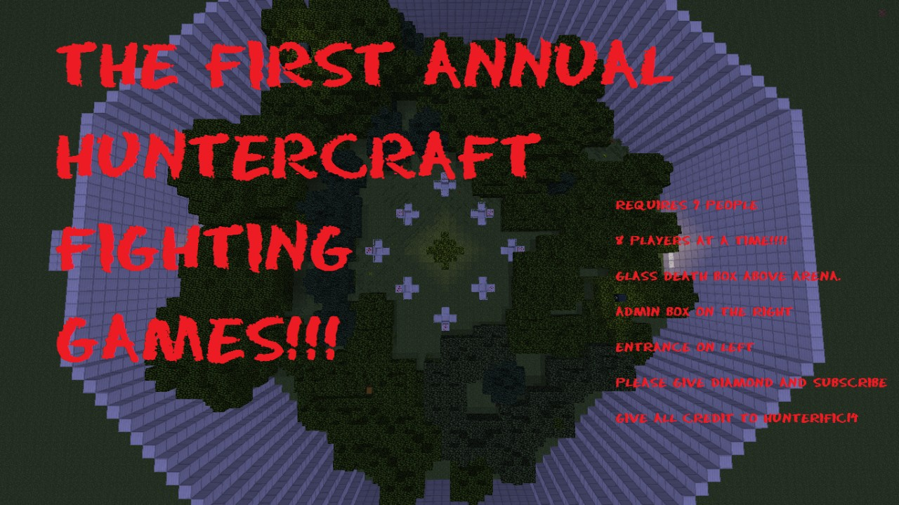 First Annual Huntercraft Fighting Games Minecraft Project