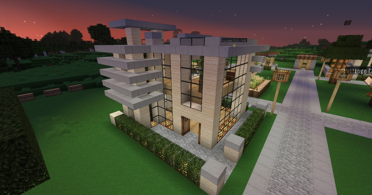 Modern House 2 10x10 Minecraft Project