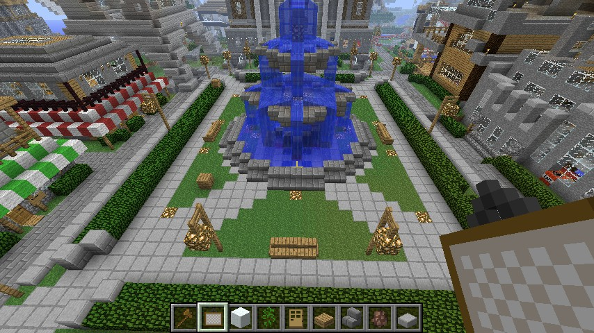 town square design simple floor plan minecraft project