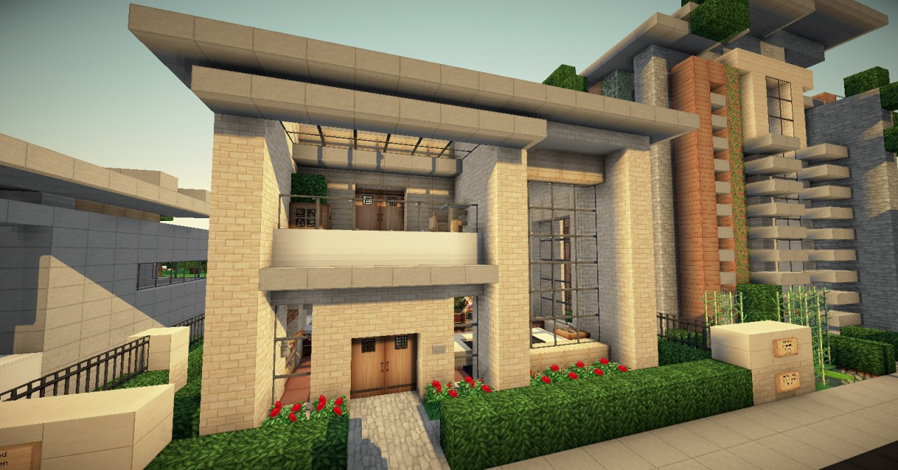 . Small Simple Modern House  WOK Server  Minecraft Project