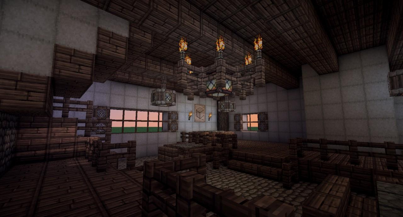 Minecraft Medieval Armory Interior