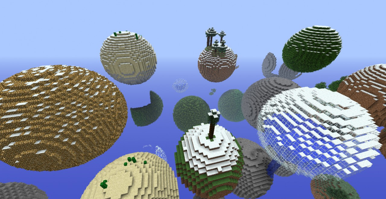 minecraft planetoids map
