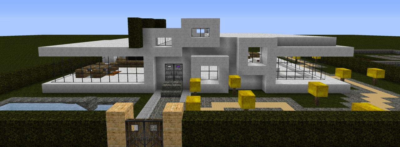 Group Of Minecraft Luxus Villa Zum - Minecraft hauser luxus