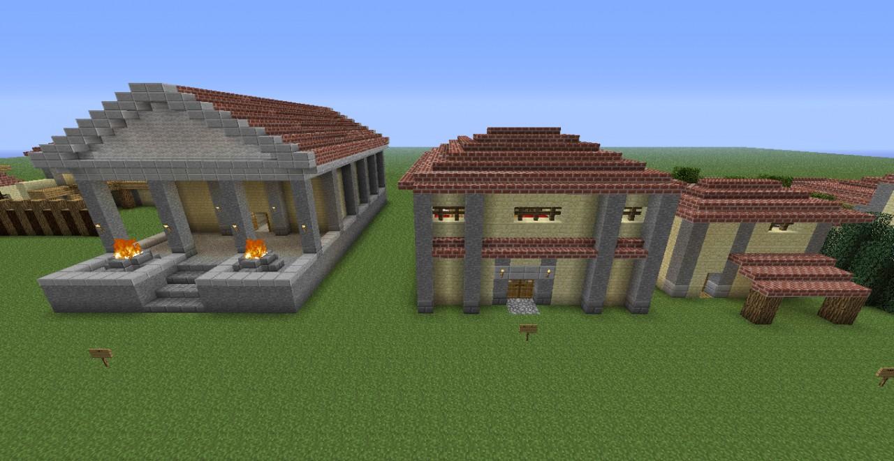 Build Ancient Roman House Model