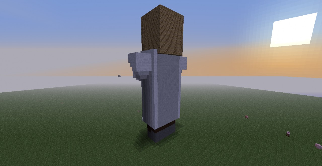 minecraft how to build a villager statue