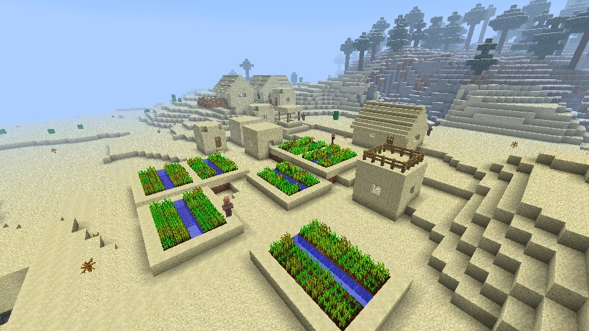 how to build a sand temple in minecraft