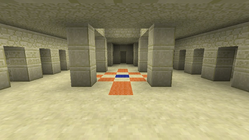 Inside of Sand Temple. HINT: Don't destroy blue. Destroy blocks next to blue.