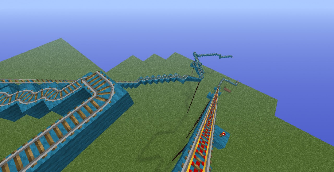 how to build a roller coaster in minecraft