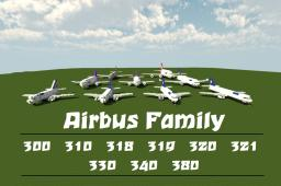 Airbus Family [All Planes 1:1 Scale] Minecraft