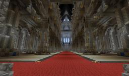 Building a Black Hawk Cathedral. Minecraft