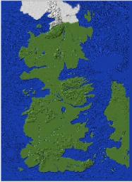 Game Of Thrones-Full Westeros Map-Perfect for Adventure/Rpg Style Servers Minecraft Map & Project