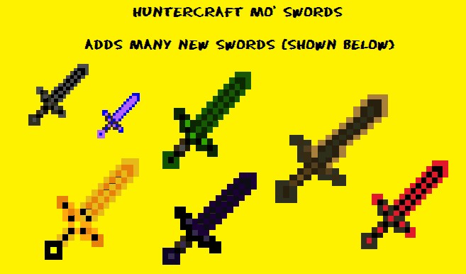 Huntercraft Mo' Swords Minecraft Mod