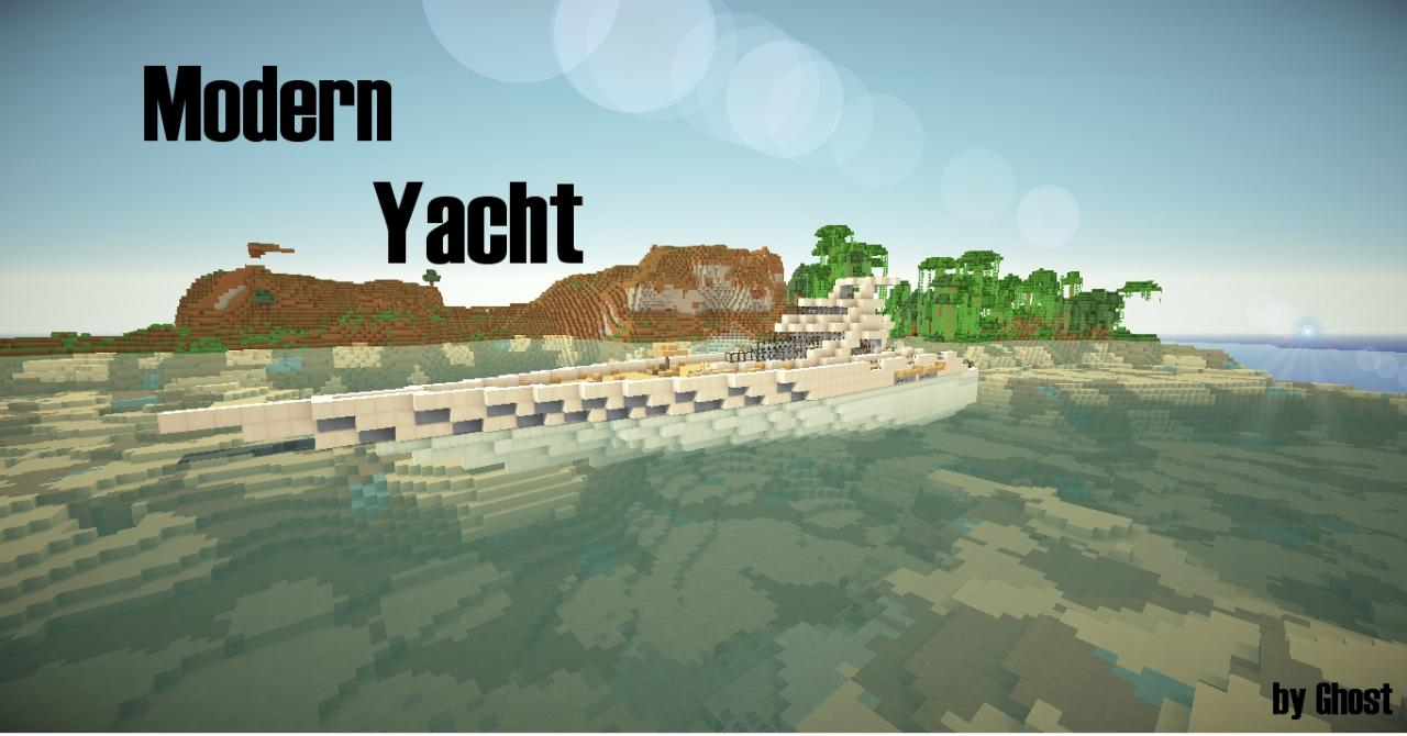 Segelyacht modern  Modern Yacht Minecraft Project