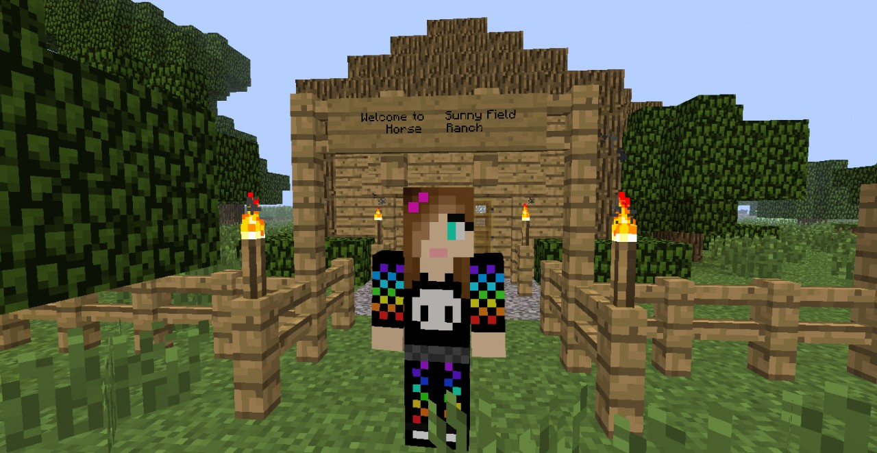 Sunny Field Horse Ranch Minecraft Project