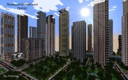 WaterFront District Riverport (Finished) Minecraft Map & Project