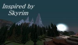 Skyrim Inspired Mountains. Minecraft Map & Project