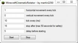 MinecraftCinematicRotator Minecraft Mod