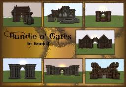 Bundle o' Gates -- Medieval/Fantasy Minecraft Map & Project