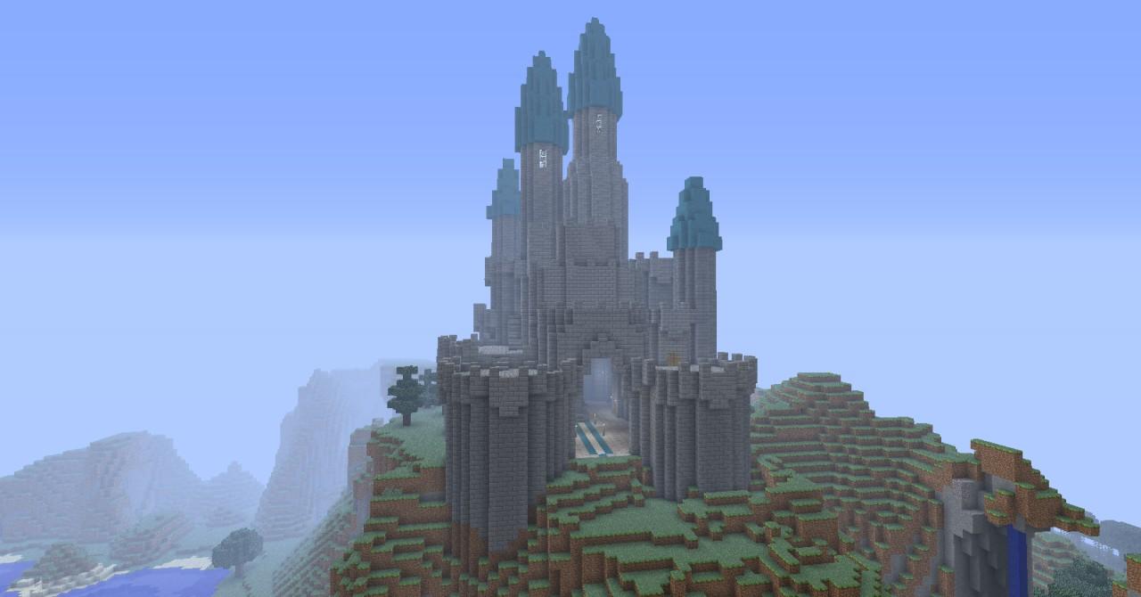 mountain castle. Minecraft Project