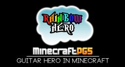 Rainbow Hero - Guitar Hero in Minecraft Minecraft Map & Project