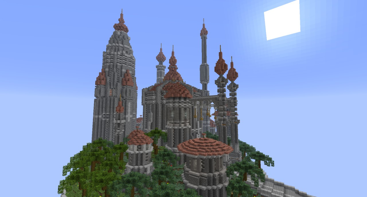 Floating Castle of Ardad Minecraft Project