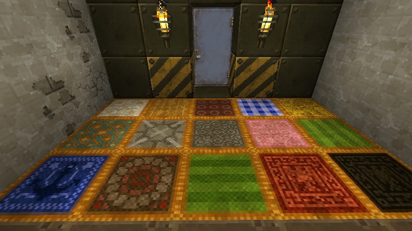Newly compatible with the vanilla world of vanilla Minecraft!  Colored wools and more regular ore blocks!