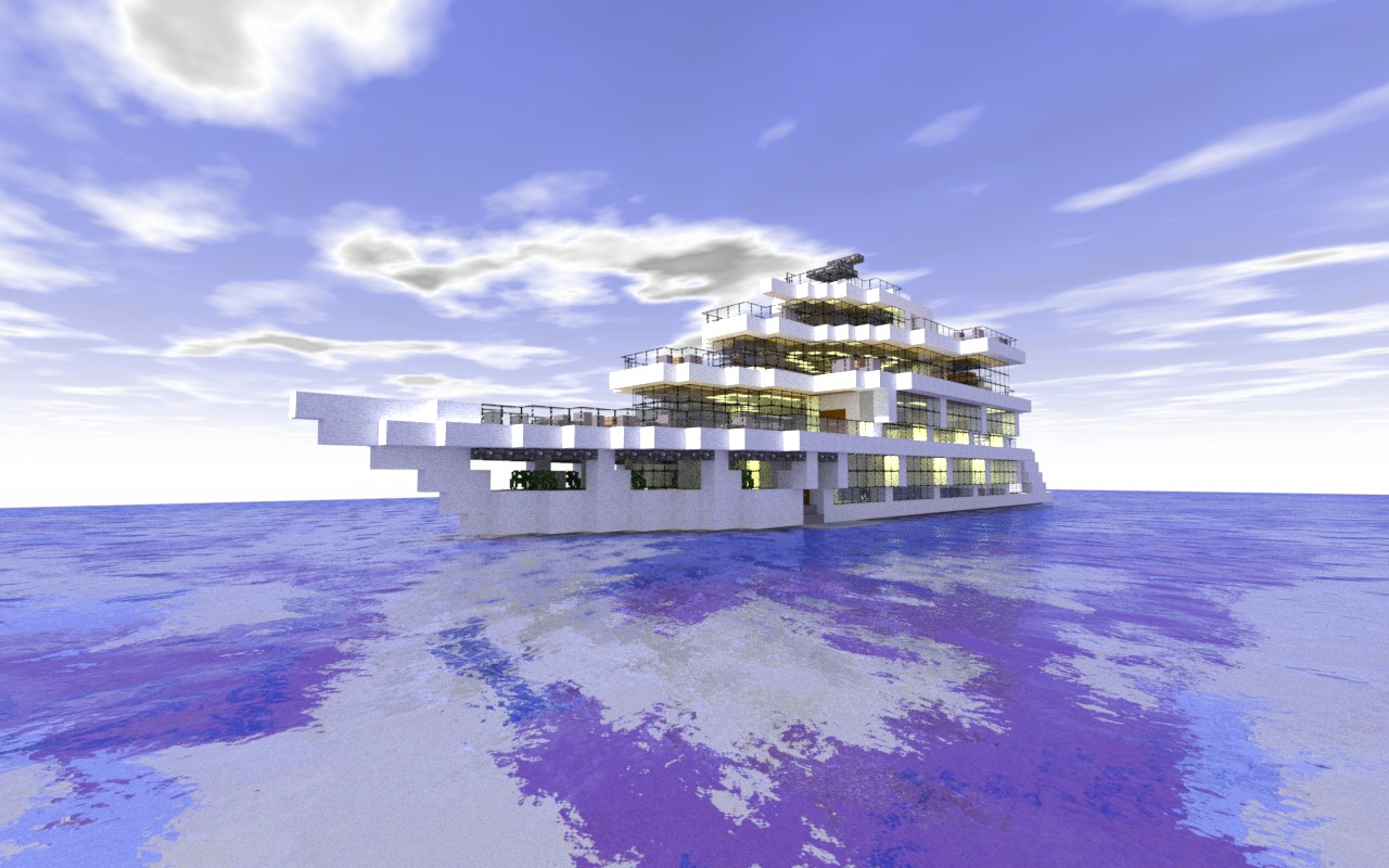 Modern Luxury Yacht Minecraft Project