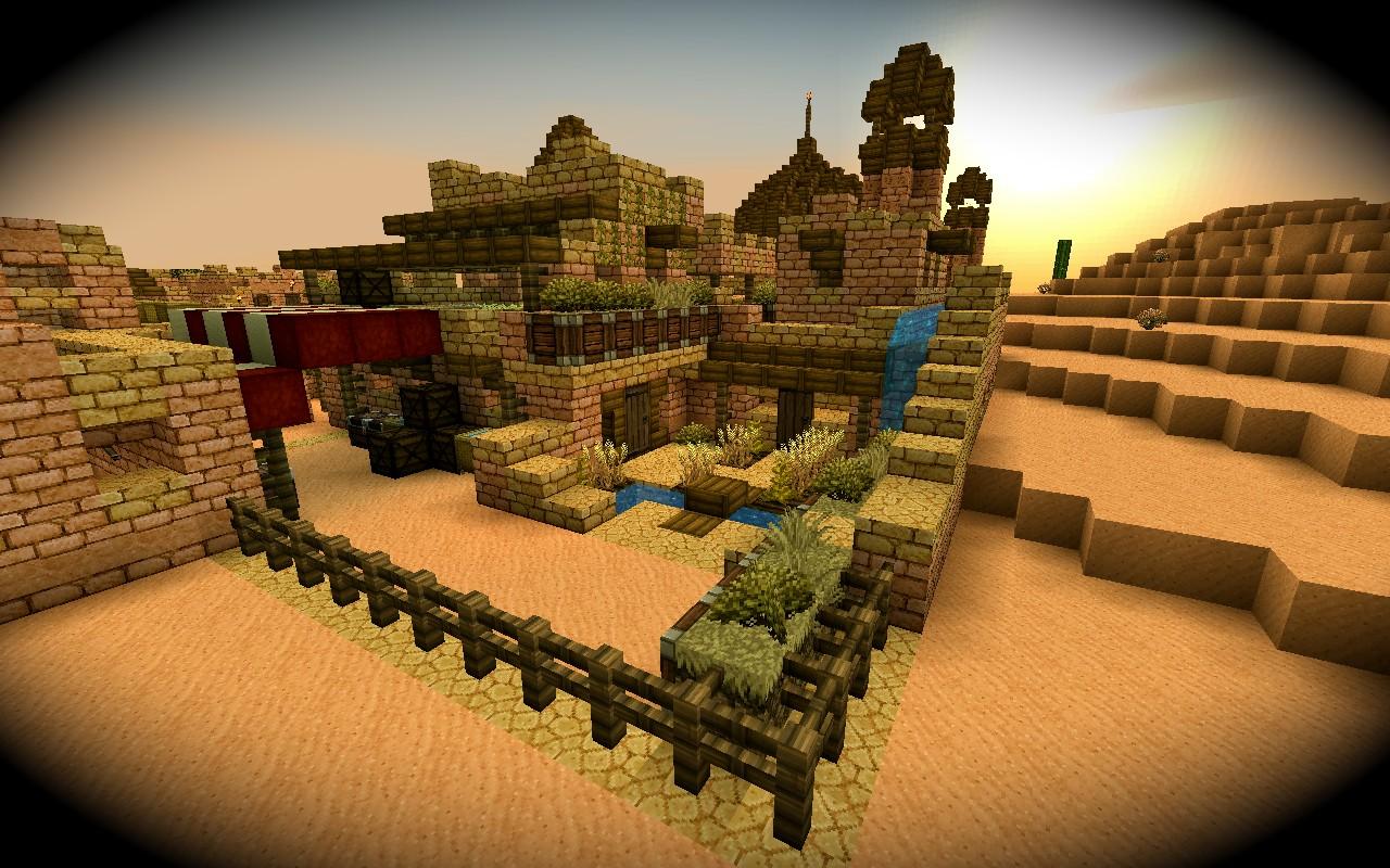 Amazing modern desert mansion minecraft project for Amazing modern houses minecraft