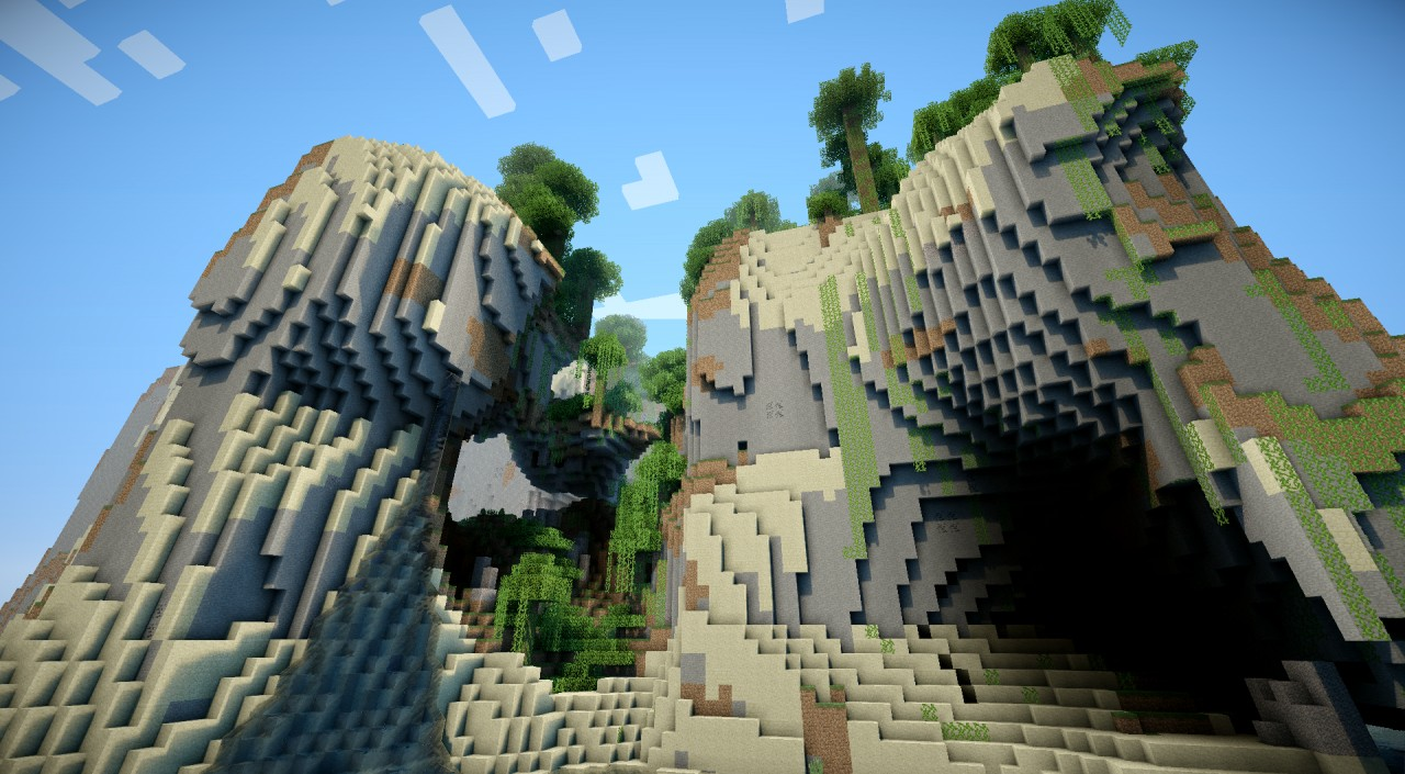 This generator will infinitely generate new and exciting terrain for you to explore and build.