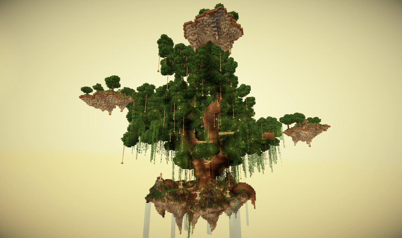 Projection Mapping Trees The God Tree Minecraft Project